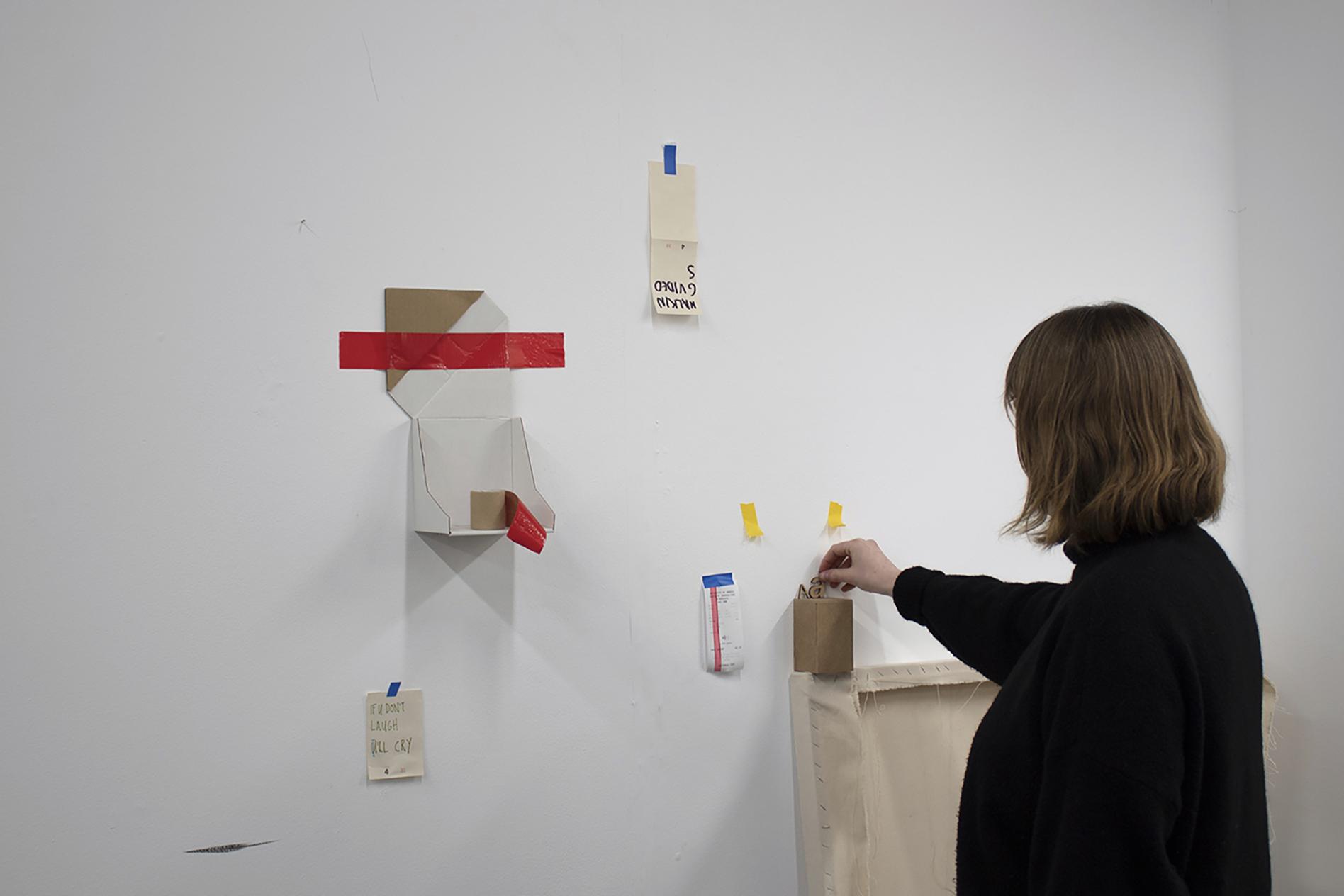 Photo of work on display
